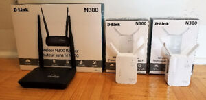 TP-Link N300 Wireless Router and Two Extenders - $60/OBO