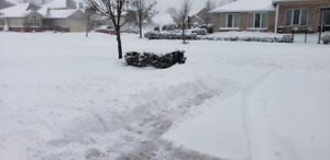 Looking for someone to come shovel my small driveway.  $10