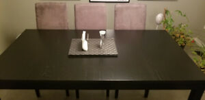Ikea Bjursta Extendable Dining Table with Matching Bench!
