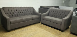 BRAND NEW TUFTED SOFA + LOVE SEAT -Made in Canada We Can Deliver