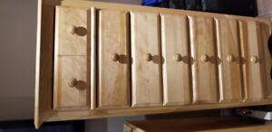 Set de chambre lit simple en bois de merisier