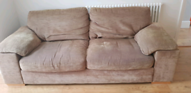 Two free brown sofas FROM Harveys collection only