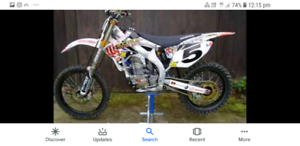 Honda crf 250 400 white plastics and hart & Huntington full kit
