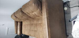 Structube 3 seat sofa copper brown. Like new , barley used