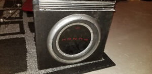 Rockford fosgate Subwoofer and pioneer amp for sale