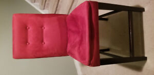 4 Used Red Suede High Chair...