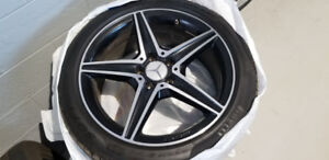 Mercedes 18 inch AMG wheels with snows