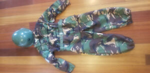 Army man costume size 4
