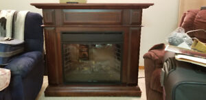 """26"""" Electric Fireplace and Mantel"""