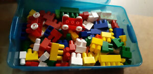 Box of Duplo Blocks