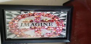 """Imagine"" (glass frame)"