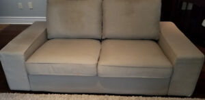 IKEA Kivik Light Brown Beige Loveseat Couch + free bonus cover