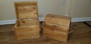 Small wooden storage chests