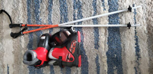 Ski boots, poles , goggles Youth