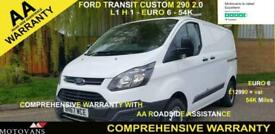 2017 Ford Transit Custom 2.0 290 L1 H1, 1 OWNER, FSH , 54K, EU 6 PANEL VAN Diese