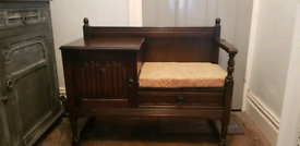 Vintage mahogany phone table