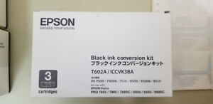 Epson Stylus Pro Black Ink Conversion Kit T602A (2 Available)
