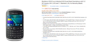 Blackberry 9320 Curve Unlocked GSM Quad-Band Smartphone with 3.2