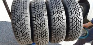 215/60R/16 GOODYEAR ULTRA GRIP WINTERS ON 5X108 FORD FOCUS WHEEL
