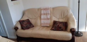 Leather Furniture - sofabed and arm chairs