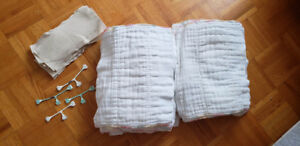 Cloth Diapers: 36 prefolds (Rearz)+ 28 Liners (Applecheeks)+