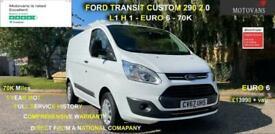 2017 Ford Transit Custom 2.0 290, L1H1, 5Dr, Eu6, 1 Owner, 70k PANEL VAN Diesel