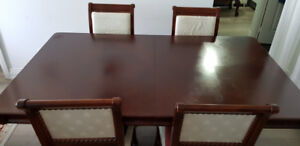 Elegant Dining Table furniture and 4 Chairs