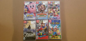 BRAND NEW Switch Games NEUF - Zelda - Mario Odyssey - Kirby