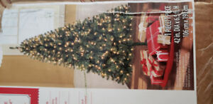 6.5 ft prelit Christmas tree & decorations