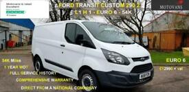 2018 Ford Transit Custom 2.0 290 L1 H1, 1 OWNER, FSH , 54K, EU 6 PANEL VAN Diese