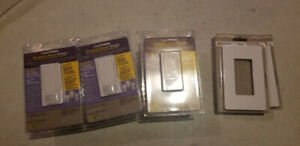 Lutron Occupancy Sensor dimmer switches and faceplate x3