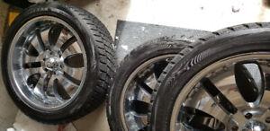 """4 Bridgestone Blizzack 22"""" Winter tires -rims incl. $ 997"""