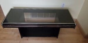 Black Coffee Table with Glass Top in good condition