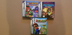Jeux GBA Metroid Zero Mission Yoshi Island Mario Golf gameboy ad