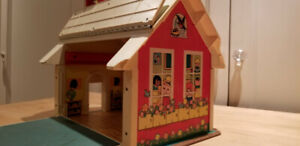 Fisher Price Vintage Play School House – Little People – 1970s