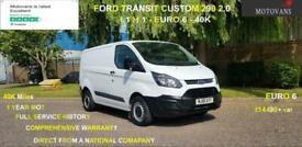 2018 Ford Transit Custom 2.0 290 L1 H1, 1 OWNER, FSH , 40K, EU 6- 1 OWNER , FSH