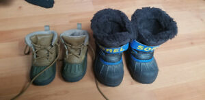 Sorel winter snow boot and Nike boot size 7