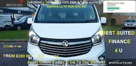 2017 Vauxhall Vivaro 2900 1.6CDTI BiTurbo 125PS Sportive H1 Van PANEL VAN Diesel