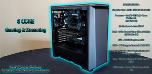 POWERFUL Gaming Rig! 6-Core New Build! OC 4.2 Ghz i7 / 1070 SC