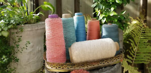 Vintage 1954 Large Cone Spools of Cotton Thread made in Canada