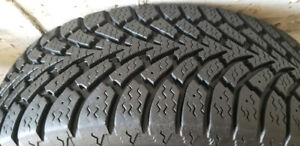GOOD YEAR NORDIC 225/65/16 WINTER TIRES (NO RIMS) OFF CARAVAN