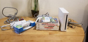 Modded Wii with Controllers & Games