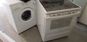 Washer dryer stove glass top $50 each working need gone asap
