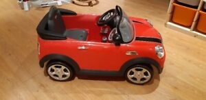 Mini Cooper Kids Electric Ride on Toy Car-Red/voiture electrique