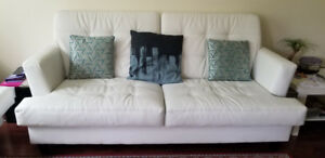 GOOD CONDITION FAUX LEATHER SOFAS FOR SALE!!!