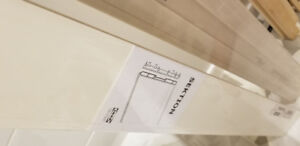 SELLING: 2 x Ikea Sektion Forbattra toe-kicks (off-white)
