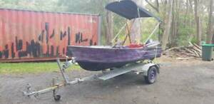 3.8 m runabout with canopy with 15hp Yamaha & trailer