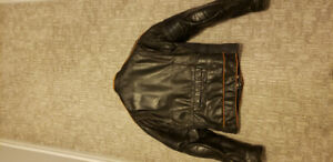 Men's Small Leather Motorcycle Jacket