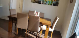 Solid Teak Wood Table and 6 chairs