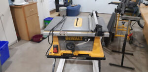 Dewalt Dw744 job site table saw